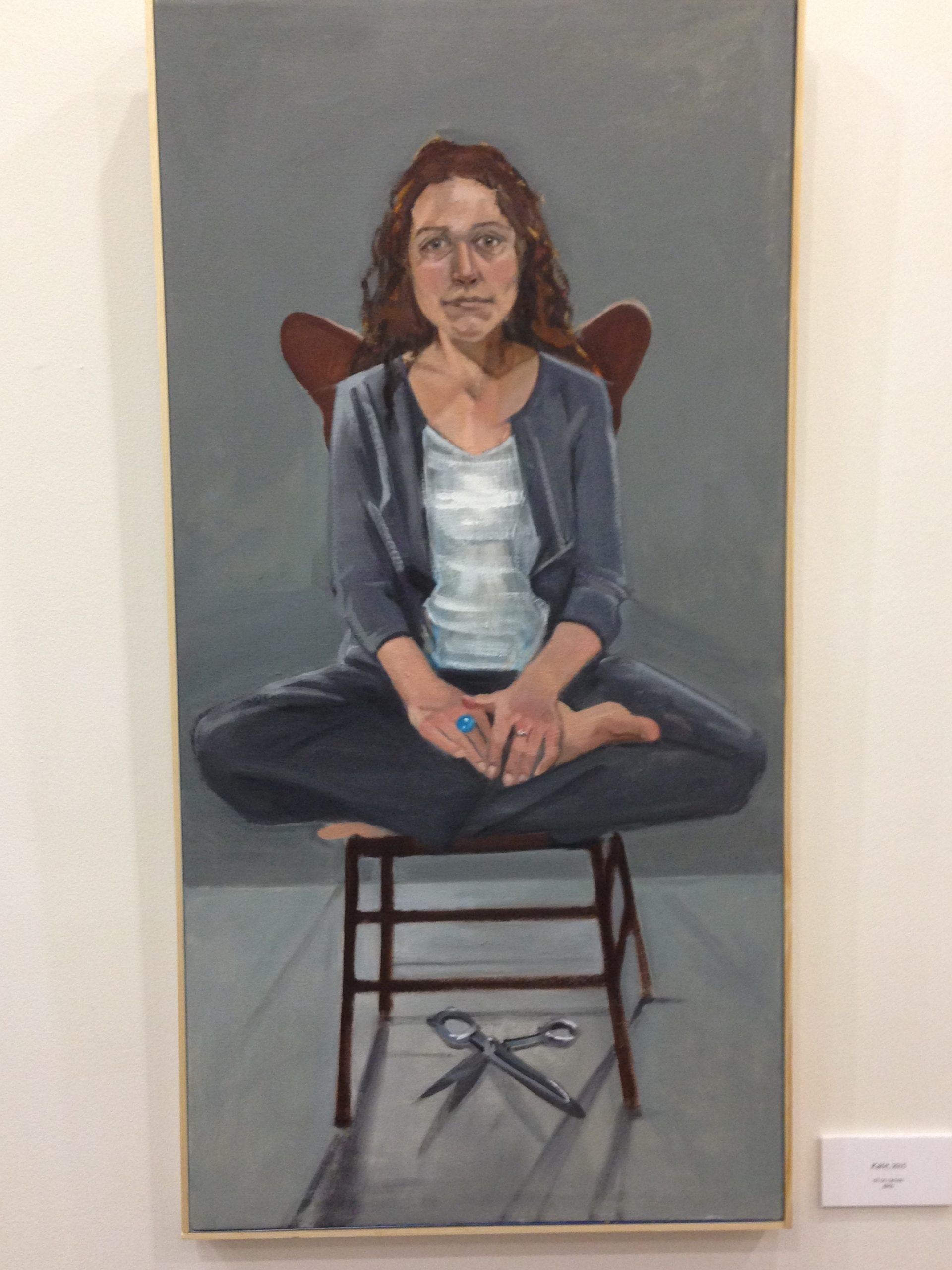Painting of a woman sitting