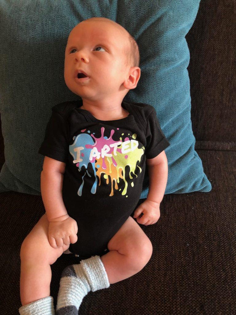 Baby wearing black